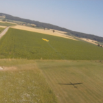 HD FPV Tricopter Chasing Planes