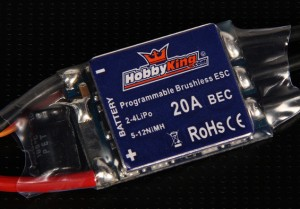 The HK 20A ESC, and the HK line in general is one of the most popular ESC lines for Quadcopters. They have excellent compatibility and performance, and they can even be flashed with a special high-performance firmware optimized for Quadrotor craft