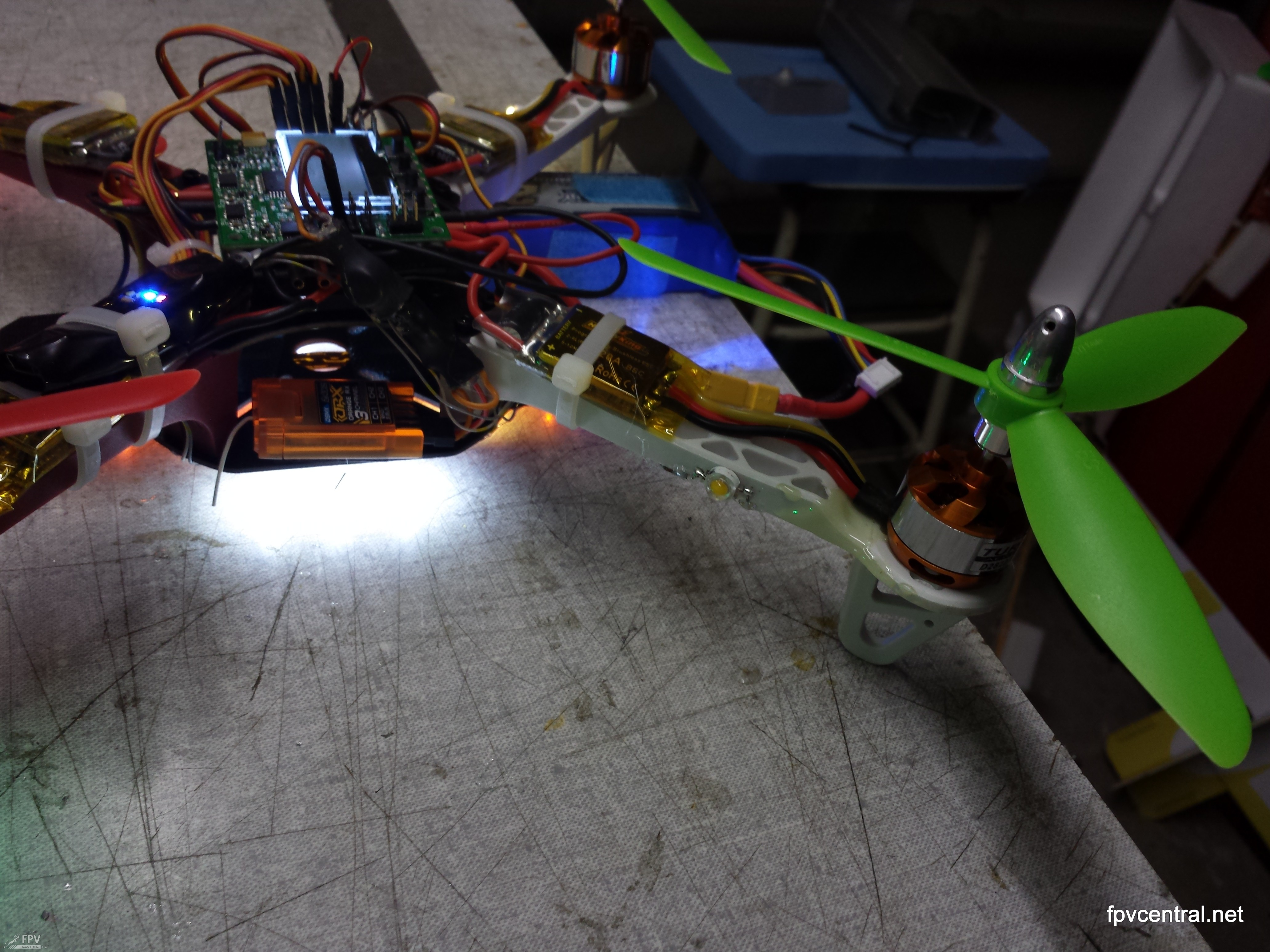 Build Your Own Programmable High Power 3w Led Flasher For Fpv Making A Stripboard Circuit Building And Soldering Cree Glued Right Onto The Frame Only Advisable If