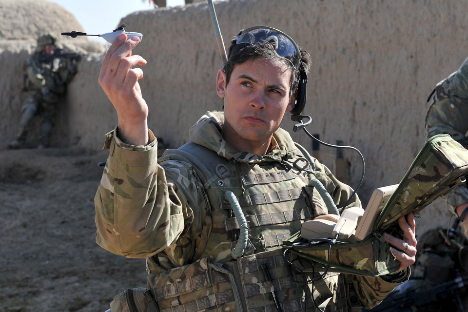 MINIATURE SURVEILLANCE HELICOPTERS HELP PROTECT FRONTLINE TROOPS