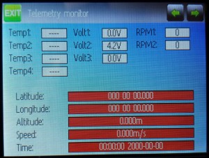 The telemetry screen is no longer buried in the menu, but accessible with a single press of a button.